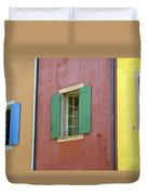 Multicolored Walls, France Duvet Cover
