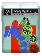 Multilith 1250 Ink Rollers Cylinders Duvet Cover