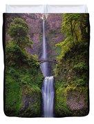 Multnomah Falls - Columbia River Gorge - Oregon Duvet Cover