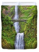 Multnomah Falls I Duvet Cover