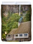 Multnomah Falls Lodge Duvet Cover