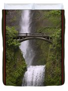 Multnomah Falls Oregon Duvet Cover by Gary Grayson