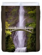 Multnomah Falls Silk Duvet Cover
