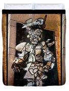 Mummer Man Triptych Duvet Cover