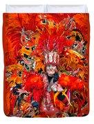 Mummer Red Duvet Cover