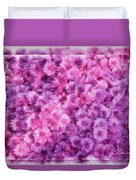 Mums In Purple - Featured In 'comfortable Art' And 'nature Photography' Groups Duvet Cover