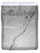 Munich Street Map - Munich Germany Road Map Art On Colored Backg Duvet Cover