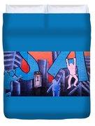 Mural, Nyc, New York City, New York Duvet Cover