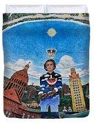Mural Of Stephen F Austin Off Guadalupe Duvet Cover