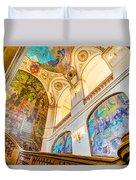 Murals Of Capitole De Toulouse Duvet Cover