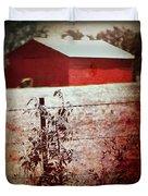 Murder In The Red Barn Duvet Cover