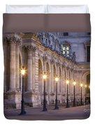 Musee Du Louvre Lamps Duvet Cover