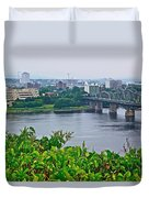 Museum Of Civilization Across The Ottawa River In Gatineau-qc Duvet Cover