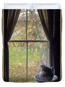 Museum Window Still Life Duvet Cover