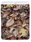 Mushroom And Leaves Duvet Cover