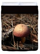 Mushroom And Pine Cone Neighbors Duvet Cover