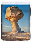 Mushroom Formation In White Desert  Duvet Cover