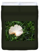 Mushroom Growing Wild On Lawn Duvet Cover