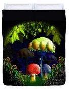 Mushroom Town Duvet Cover