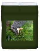 Mushrooms In Grass Duvet Cover