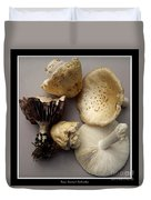 Mushrooms With Watercolor Effect 5 Duvet Cover