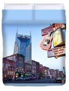 Music City Usa Duvet Cover by Brian Jannsen