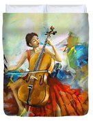 Music Colors And Beauty Duvet Cover
