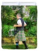 Music - Drummer In Pipe Band Duvet Cover
