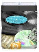 Music History Duvet Cover