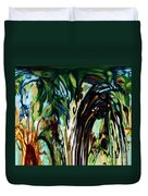 Music In Bird Of Tree Drip Painting Duvet Cover