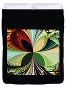 Music In Bird Of Tree Kaleidoscope Duvet Cover
