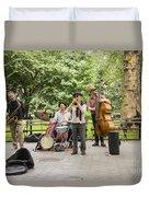 Music In The Park Duvet Cover