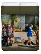 Music - Mummers Preperation Duvet Cover by Mike Savad