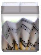 Music Notes Duvet Cover