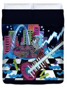 Music On The River Stl Style Duvet Cover