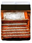 Music - Organist - The Pipe Organ Duvet Cover by Mike Savad