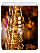Music - Sax - Sweet Jazz  Duvet Cover by Mike Savad