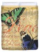 Musical Butterflies 2 Duvet Cover