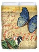 Musical Butterflies 3 Duvet Cover