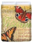 Musical Butterflies 4 Duvet Cover