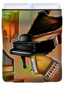 Musical Instruments With Keyboards Duvet Cover