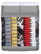 Musical Motifs Duvet Cover by Ann Horn