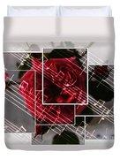Musical Rose Montage Duvet Cover