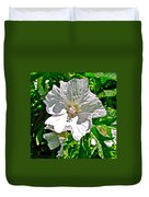 Musk Mallow Along Trail To Cap Gaspe In Forillon National Park-quebec  Duvet Cover