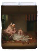 Muslim Lady Reclining Duvet Cover