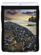 Mussel Beach Duvet Cover