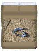 Mussel Shell On The Beach Duvet Cover