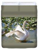 Mute Swan Wings Duvet Cover
