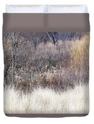 Muted Colors Of Winter Forest Duvet Cover