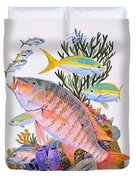 Mutton Snapper Reef Duvet Cover